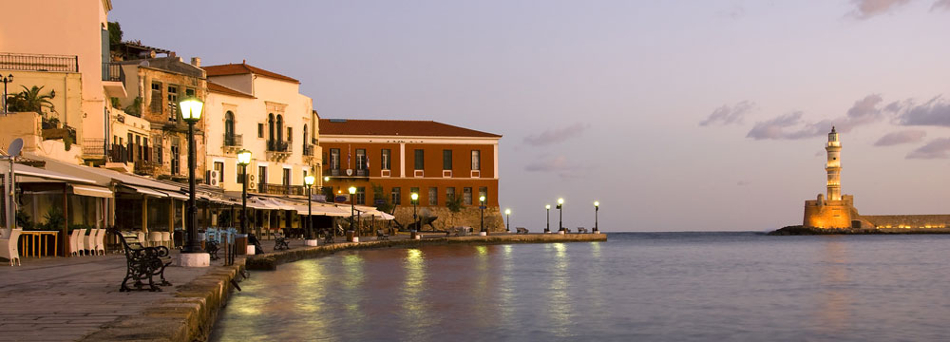 Venetian Port in Chania Crete Greece