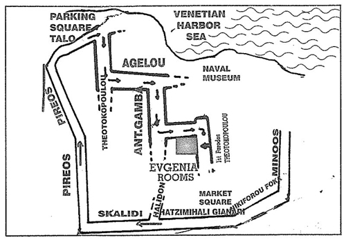 Directions to Evgenia Rooms & Studios